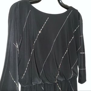 WHBM Blouson Top Jeweled Dress S